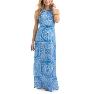 Vineyard Vines Sand Dollar Scarf Print Maxi Dress